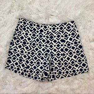 Ann Taylor Size 2 Navy White Shorts